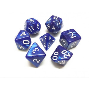 "Azul Pearl - Polyhedral Dice Set, Dice, D&D, Dice Category_Polyhedral Dice Set, Role Playing Game, ""board games"", ""Hobby Games"""