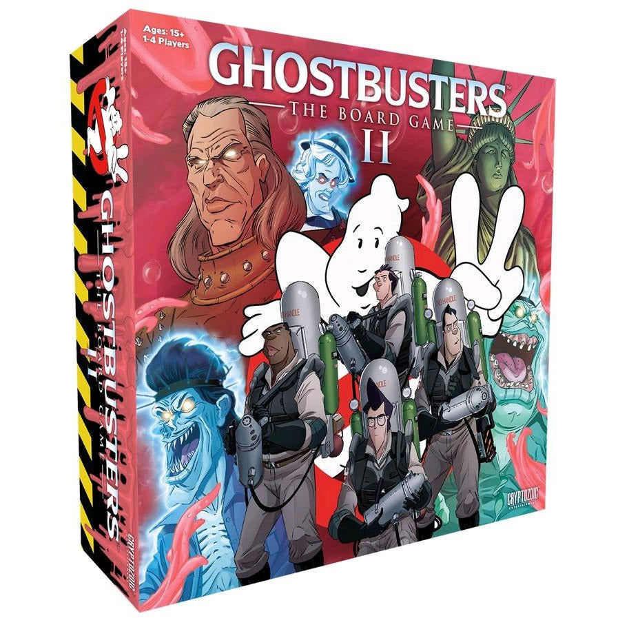 "Ghostbusters: The Board Game II, Board Game, Age_Teens, Category_Cooperative, Category_Pop Culture, Category_Solo, Category_Thematic, Cryptozoic, Dan Schoening, Ghostbusters, Luis Antonio Delgado, Mataio Wilson, Mechanic_Cooperative, Mechanic_Dice Rolling, Vincent Pritchard, ""board games"", ""Hobby Games"", Hobby Games"