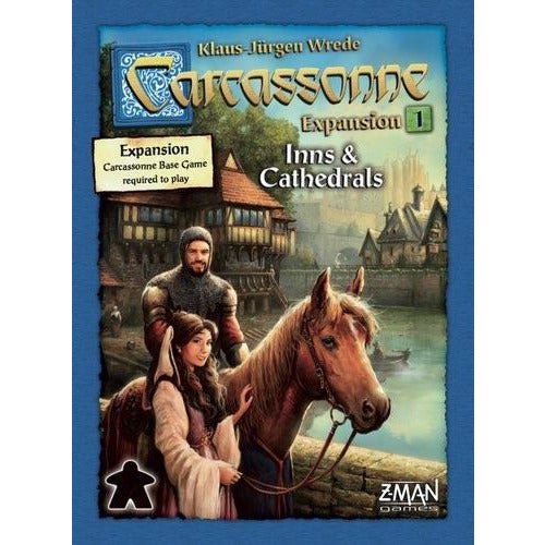 "Carcassonne Expansion 1 Inns & Cathedrals, Board Game, Age_8-10 years, Carcassonne, Category_Expansion, Category_Family, Category_Strategy, Klaus-Jürgen Wrede, Mechanic_Area Control, Mechanic_Pattern Building, Mechanic_Tile Placement, ""board games"", ""Hobby Games"", Hobby Games"