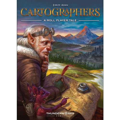 "Cartographers: A Roll Player Tale, Board Game, Age_8-10 years, Category_Family, Category_Roll and Write, Category_Solo, Jordy Adan, Lucas Ribeiro, Luis Francisco, Mechanic_Line Drawing, Mechanic_Roll and Write, Thunderworks Games, ""board games"", ""Hobby Games"", Hobby Games"