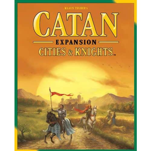 "Catan Cities & Knights - 5th Edition, Board Game, Age_Adult, Age_Teen, Catan, Category_Expansion, Category_Family, Klaus Teubler, Mayfair Games, Mechanic_Dice Rolling, Mechanic_Hand Management, Mechanic_Modular Board, Mechanic_Route Building, Mechanic_Trading, ""board games"", ""Hobby Games"""