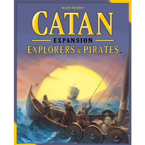 "Catan Explorers & Pirates - 5th Edition, Board Game, Age_Adult, Age_Teen, Catan, Category_2 Player, Category_Expansion, Category_Family, Klaus Teubler, Mayfair Games, Mechanic_Dice Rolling, Mechanic_Hand Management, Mechanic_Modular Board, Mechanic_Route Building, Mechanic_Trading, ""board games"", ""Hobby Games"""