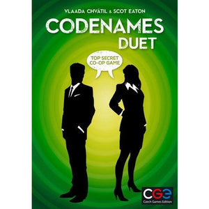 "Codenames Duet, Board Game, Age_Adult, Age_Teen, Category_2 Player, Category_Cooperative, Codenames, Mechanic_Deduction, Mechanic_Memory, Mechanic_Press Your Luck, Vlaada Chvátil, ""board games"", ""Hobby Games"""