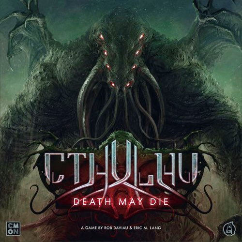 "Cthulhu: Death May Die, Board Game, Adrian Smith, Category_Solo, Category_Strategy, Category_Thematic, Edgar Skomorowski, Eric M Lang, Karl Kopinski, Mechanic_Action Points, Mechanic_Cooperative, Mechanic_Dice Rolling, Mechanic_Variable Player Powers, Nicolas Fructus, Richard Wright, Rob Daviau, ""board games"", ""Hobby Games"", Hobby Games"