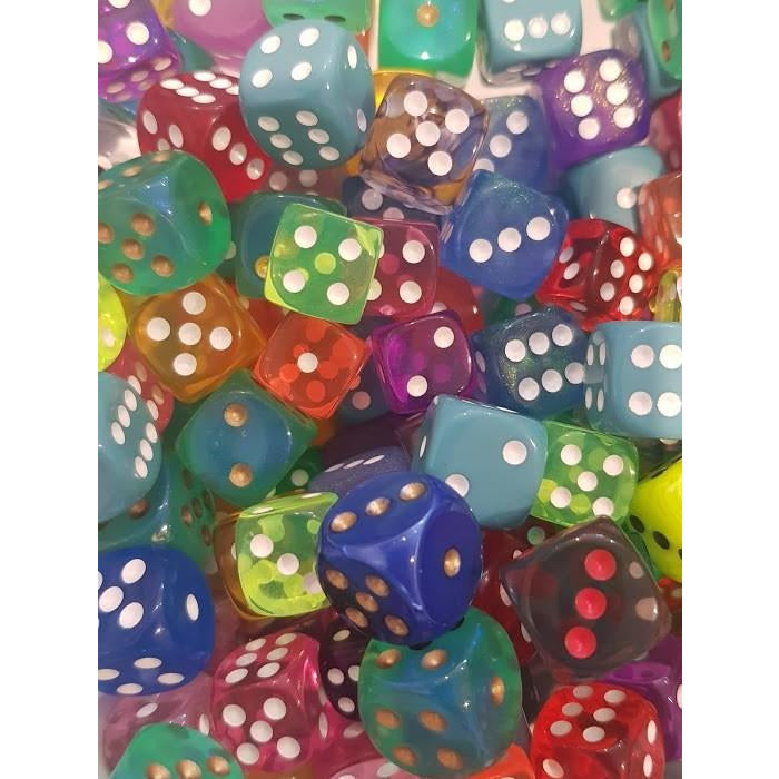 "D6 Dice - Pips (Random Colour), Dice, Category_Accessory, Dice, Mechanic_Dice Rolling, ""board games"", ""Hobby Games"", Hobby Games"