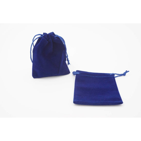 "Velvet Dice Bag - Blue, Accessories, Category_Accessory, Category_Case, D&D, Dice, ""board games"", ""Hobby Games"""