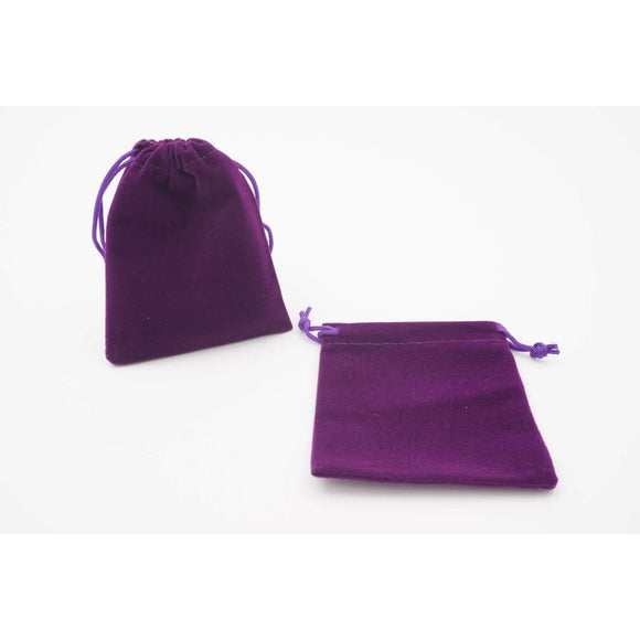 "Velvet Dice Bag - Purple, Accessories, Category_Accessory, Category_Case, D&D, Dice, ""board games"", ""Hobby Games"""