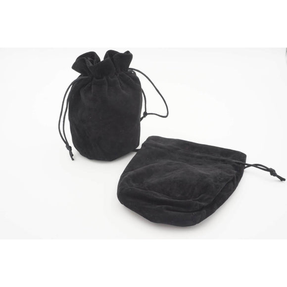 "Large Velvet Dice Bag - Black, Accessories, Category_Accessory, Category_Case, D&D, Dice, ""board games"", ""Hobby Games"""