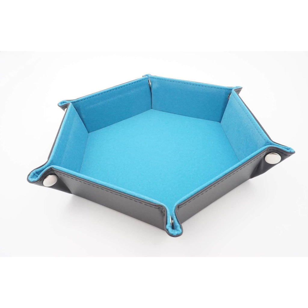 "Hexagonal Dice Tray - Blue, Accessories, Category_Accessory, Category_Case, Category_Dice Tray, ""board games"", ""Hobby Games"", Hobby Games"