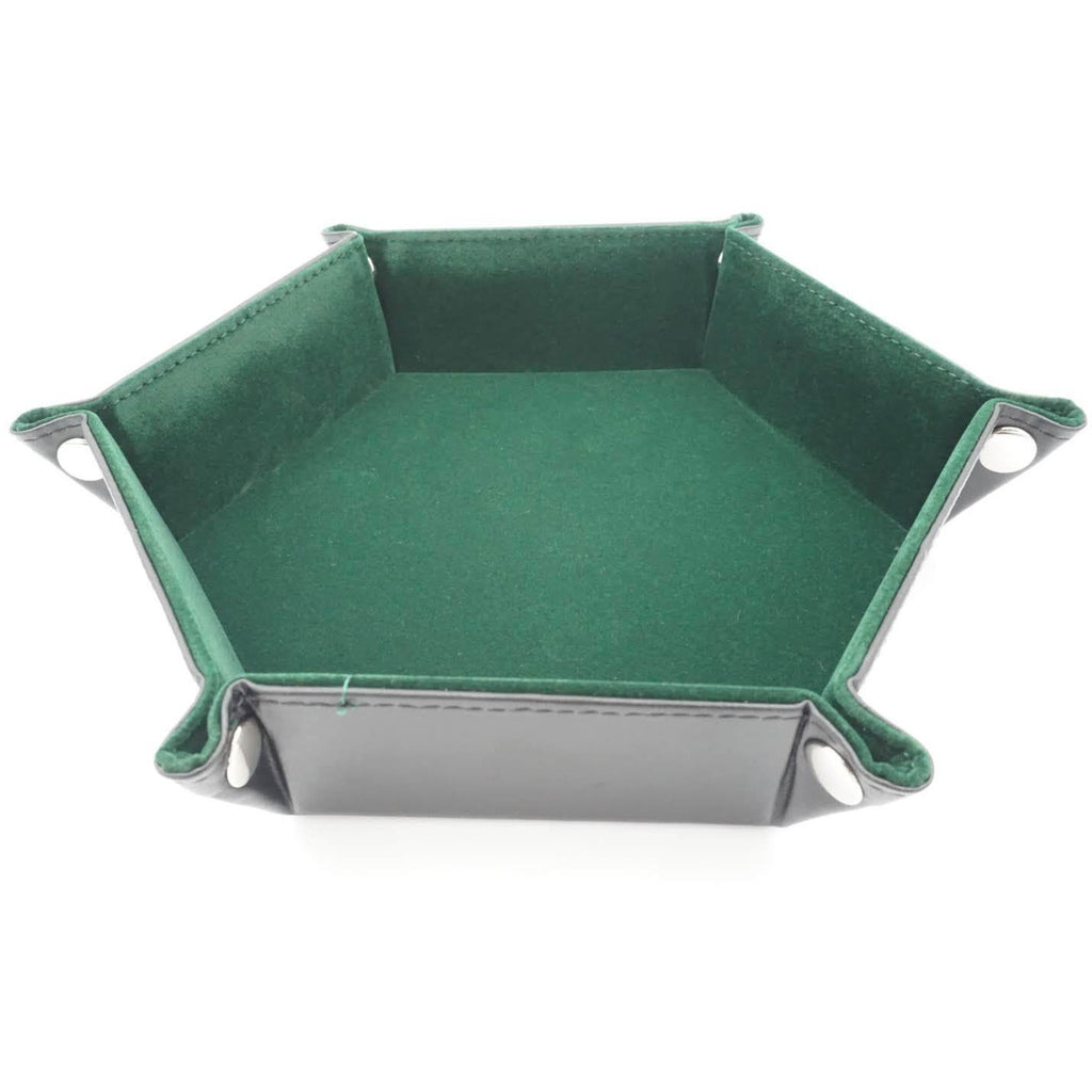 "Hexagonal Dice Tray - Green, Accessories, Category_Accessory, Category_Case, Category_Dice Tray, ""board games"", ""Hobby Games"", Hobby Games"
