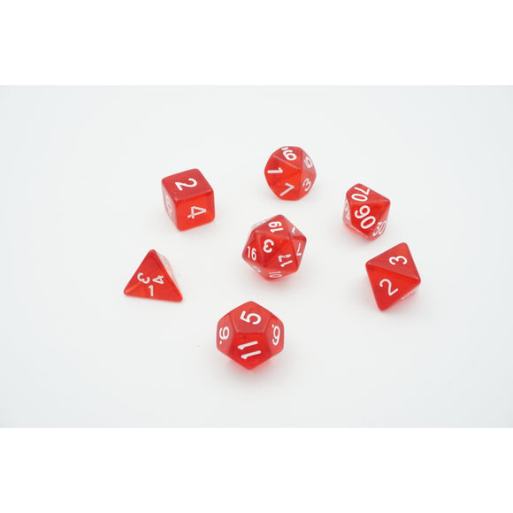 "Translucent Dragon - Polyhedral Dice Set, Dice, D&D, Dice Category_Polyhedral Dice Set, Role Playing Game, ""board games"", ""Hobby Games"""