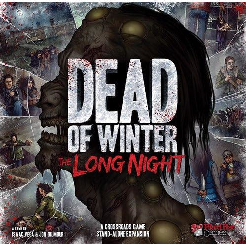 "Dead of Winter: The Long Night, Board Game, Age_Adult, Age_Teen, Category_Cooperative, Category_Stand Alone Expansion, Category_Thematic, Isaac Vega, Jonathan Gilmour, Mechanic_Bluffing, Mechanic_Dice Rolling, Mechanic_Hand Management, Mechanic_Hidden Traitor, Mechanic_Press Your Luck, Mechanic_Story Telling, Mechanic_Trading, Mechanic_Variable Player Powers, ""board games"", ""Hobby Games"""