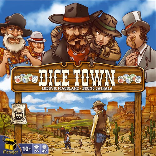 "Dice Town 2nd Edition, Board Game, Age_8-10 years, Bruno Cathala, Category_Family, Ludovic Maublanc, Mechanic_Dice Rolling, Mechanic_Set Collection, Mechanic_Simultaneous Play, Pierô, ""board games"", ""Hobby Games"", Hobby Games"