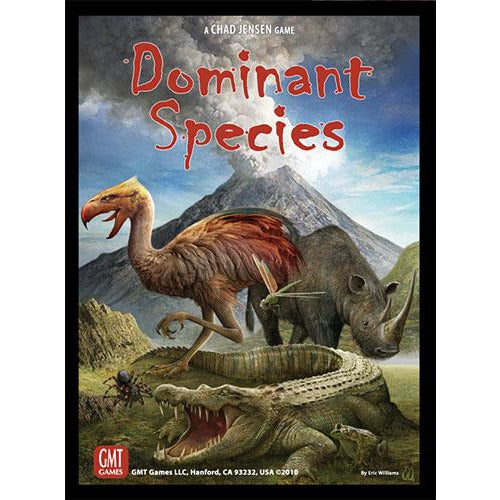 "Dominant Species, Board Game, Age_Teens, Category_Strategy, Chad Jensen, Chechu Nieto, Dinosaur, Eric Williams, GMT Games, Mechanic_Area Control, Mechanic_Drafting, Mechanic_Modular Board, Mechanic_Take That, Mechanic_Tile Placement, Mechanic_Variable Player Powers, Mechanic_Worker Placement, Rodger B. MacGowan, ""board games"", ""Hobby Games"", Hobby Games"