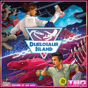 "Duelosaur Island, Board Game, Age_10+, Age_Adult, Age_Teen, Category_2 Player, Category_Expansion, Category_Strategy, Category_Thematic, Dinosaur Island, Ian Moss, Mechanic_Dice Rolling, Mechanic_Drafting, Mechanic_Hand Management, Mechanic_Set Collection, ""board games"", ""Hobby Games"""