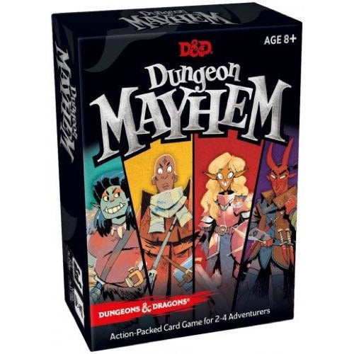 "Dungeon Mayhem, Card Game, Age_8-10 years, Category_Family, D&D, Mechanic_Hand Management, Mechanic_Player Elimination, Mechanic_Variable Player Powers, ""board games"", ""Hobby Games"""