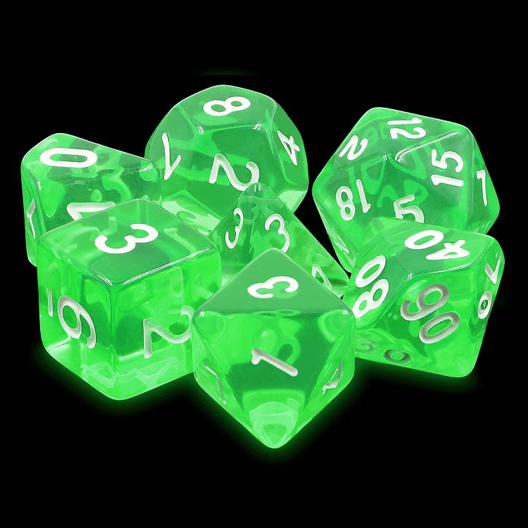 "Emerald Gems - Polyhedral Dice Set, Dice, D&D, Dice Category_Polyhedral Dice Set, Role Playing Game, ""board games"", ""Hobby Games"", Hobby Games"