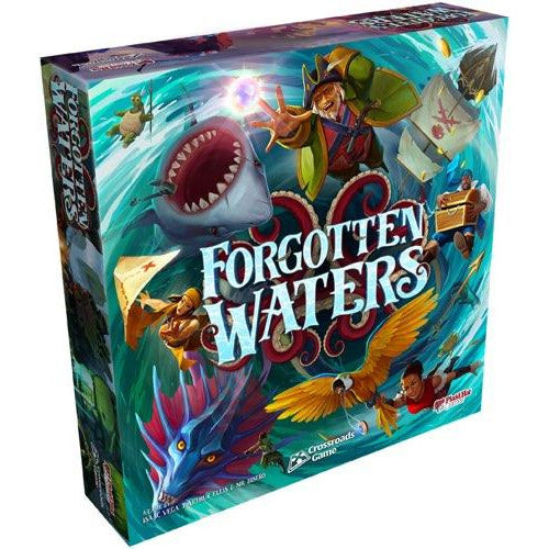 "Forgotten Waters, Board Game, Age_Teens, Category_Thematic, Isaac Vega, J. Arthur Ellis, Mechanic_Cooperative, Mechanic_Dice Rolling, Mechanic_Story Telling, Mr. Bistro, ""board games"", ""Hobby Games"""