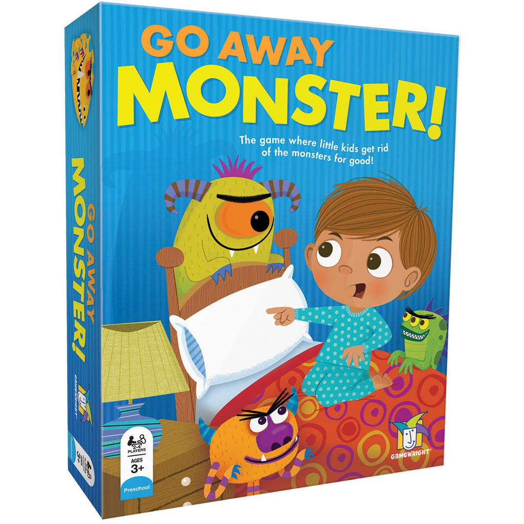 "Go Away Monster!, Card Game, Age_Preschool, Ann Stambler, Category_Childrens, Category_Cooperative, Dana Regan, Gamewright, Maciej Szymanowicz, Mechanic_Cooperative, Mechanic_Pattern Recognition, Mechanic_Set Collection, Monty Stambler, ""board games"", ""Hobby Games"", Hobby Games"