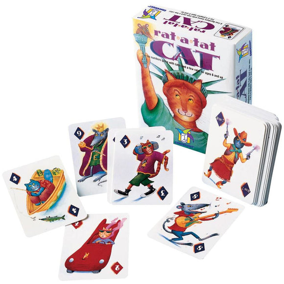 "Rat-A-Tat Cat, Board Game, Age_5-7 years, Animals, Ann Stambler, Björn Pertoft, Category_Childrens, Category_Family, Gamewright, Markus Wagner, Mechanic_Drafting, Mechanic_Memory, Mechanic_Take That, Monty Stambler, Roni Shepherd, ""board games"", ""Hobby Games"""