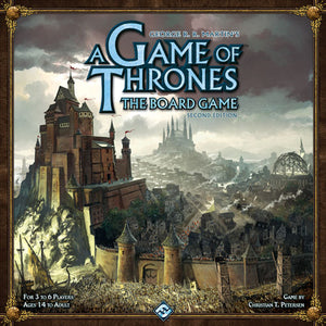 "A Game of Thrones: The Board Game Second Edition, Board Game, Age_Adult, Age_Teen, Category_Strategy, Game of Thrones, Mechanic_Area Control, Mechanic_Auction, Mechanic_Player Elimination, Mechanic_Variable Player Powers, ""board games"", ""Hobby Games"""