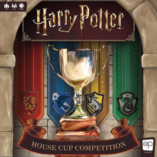 "Harry Potter: House Cup Competition, Board Game, Age_Teens, Category_Family, Category_Pop Culture, Delaney Mamer, Harry Potter, Kami Mandell, Mechanic_Worker Placement, Nate Heiss, The Op Games, ""board games"", ""Hobby Games"", Hobby Games"