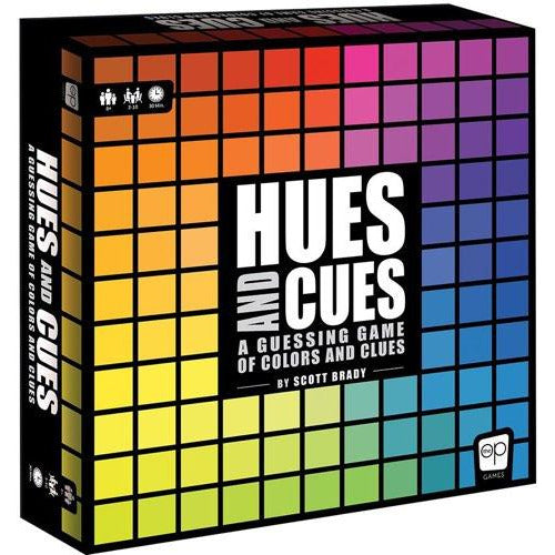 "Hues and Cues, Board Game, Age_8-10 years, Category_Family, Category_Party, Mechanic_Cooperative, Mechanic_Deduction, Scott Brady, The Op Games, ""board games"", ""Hobby Games"", Hobby Games"