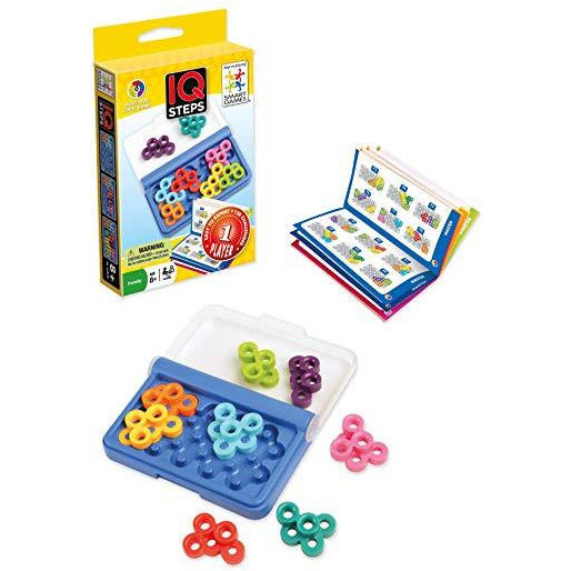 "IQ Steps, Board Game, Age_10+, Age_8+, Age_9+, Age_Adult, Age_Teen, Category_Educational, Category_Solo, Mechanic_Logic Puzzle, Mechanic_Tile Placement, Smart Games, ""board games"", ""Hobby Games"""