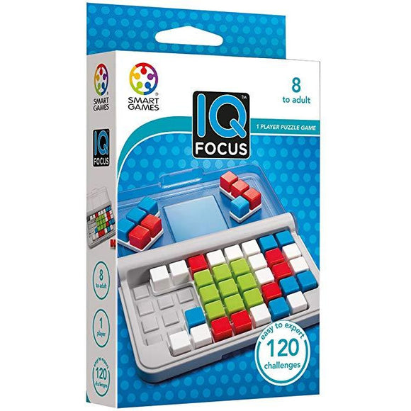 "IQ Focus, Board Game, Age_10+, Age_8+, Age_9+, Age_Adult, Age_Teen, Category_Educational, Category_Solo, Mechanic_Logic Puzzle, Mechanic_Tile Placement, Smart Games, ""board games"", ""Hobby Games"""