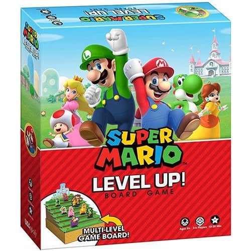 "Level Up: Super Mario, Board Game, Age_10+, Age_8+, Age_9+, Age_Adult, Age_Teen, Category_Family, Mechanic_Bluffing, Mechanic_Deduction, ""board games"", ""Hobby Games"""