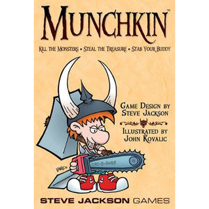 "Munchkin, Card Game, Age_10+, Age_Adult, Age_Teen, Category_Party, Category_Thematic, Mechanic_Drafting, Mechanic_Hand Management, Mechanic_Take That, Mechanic_Variable Player Powers, Munchkin, Steve Jackson, ""board games"", ""Hobby Games"""