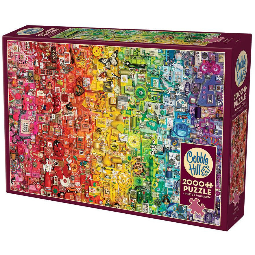 "Rainbow - 2000 pieces, Puzzle, Brand_Cobble Hill, Category_Puzzle, Collection_The Rainbow Collection, Pieces_2000, Shelley Davies, Theme_Colours, ""board games"", ""Hobby Games"", Hobby Games"