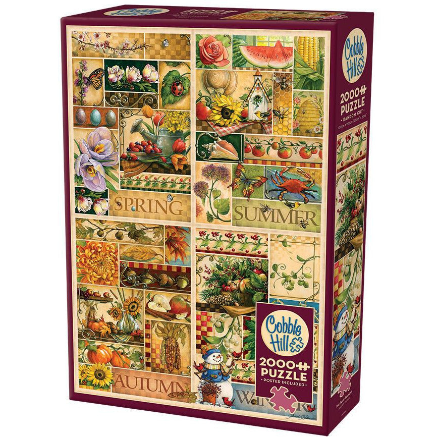 "The Four Seasons - 2000 pieces, Puzzle, Brand_Cobble Hill, Category_Puzzle, Pieces_2000, Theme_Colours, ""board games"", ""Hobby Games"", Hobby Games"