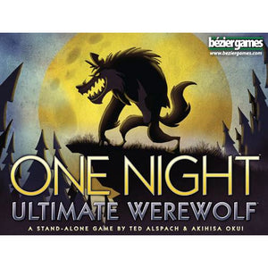 "One night Ultimate Werewolf, Card Game, Age_10+, Age_8+, Age_9+, Age_Adult, Age_Teen, Akihisa Okui, Bezier Games, Category_Party, Mechanic_Bluffing, Mechanic_Hidden Traitor, Mechanic_Variable Player Powers, Ted Alspach, ""board games"", ""Hobby Games"""