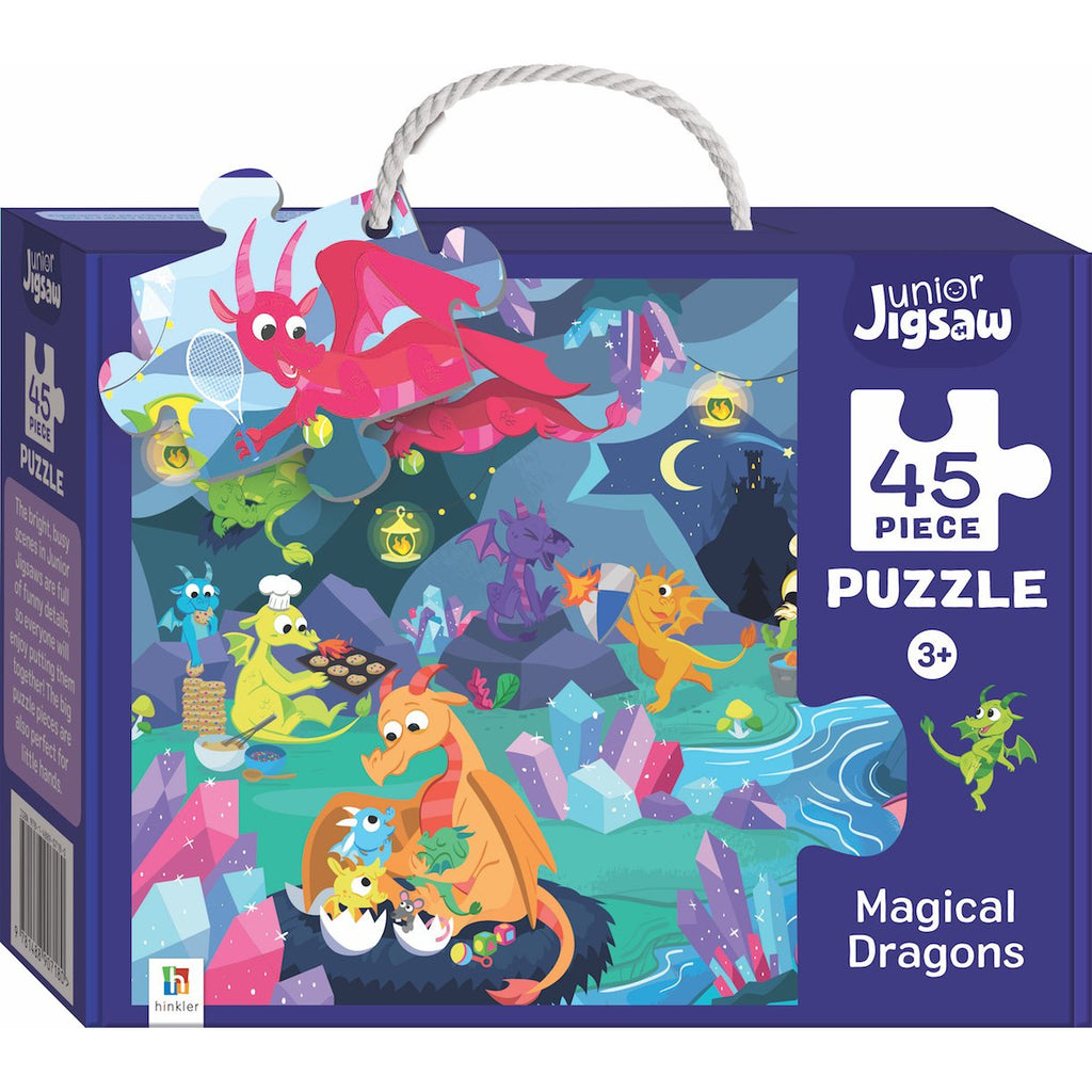 "Junior Jigsaw Series 3, Magical Dragons - 45 Pieces, Puzzle, Brand_Hinkler, Category_Puzzle Kids, Collection_Junior Jigsaw, Pieces_45, Theme_Fantasy, ""board games"", ""Hobby Games"", Hobby Games"