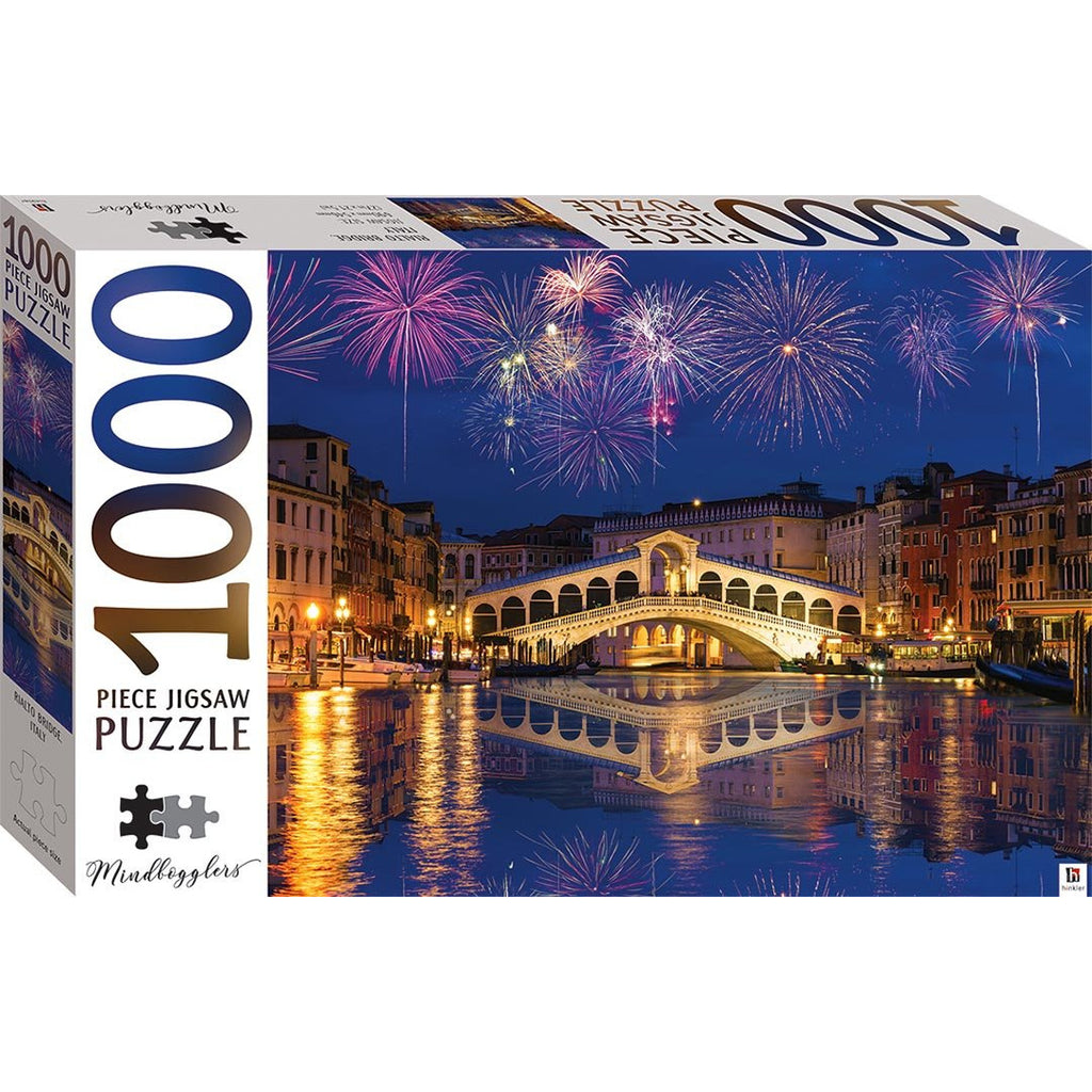 "Mindbogglers Series 14, Rialto Bridge Venice Italy - 1000 Pieces, Puzzle, Brand_Hinkler, Category_Puzzle, Collection_Mindbogglers Series 14, Pieces_1000, Theme_Landmarks, ""board games"", ""Hobby Games"", Hobby Games"