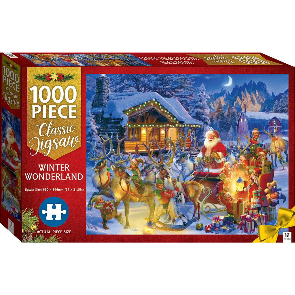 "Winter Wonderland - 1000 Pieces, Puzzle, Brand_Hinkler, Category_Puzzle, Pieces_1000, Theme_Christmas, ""board games"", ""Hobby Games"", Hobby Games"