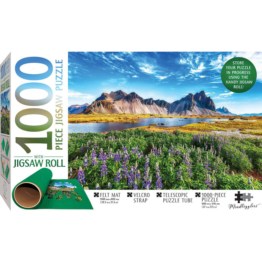 "Mindbogglers, Stokksnes Cape, Iceland - 1000 Pieces with Jigsaw Roll, Puzzle, Brand_Hinkler, Category_Puzzle, Category_Puzzle Accessory, Collection_Mindbogglers Series 14, Pieces_1000, Theme_Landmarks, ""board games"", ""Hobby Games"", Hobby Games"