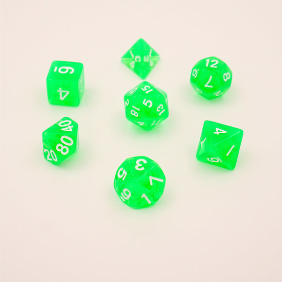 Emerald Translucent - Polyhedral Dice Set