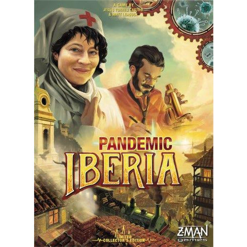 "Pandemic: Iberia, Board Game, Age_10+, Age_8+, Age_9+, Age_Adult, Age_Teen, Category_Cooperative, Category_Family, Category_Strategy, Matt Leacock, Mechanic_Cooperative, Mechanic_Hand Management, Mechanic_Set Collection, Mechanic_Trading, Mechanic_Variable Player Powers, Pandemic, ""board games"", ""Hobby Games"""