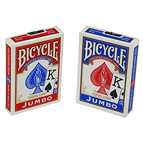 "Bicycle Playing Cards - Jumbo Index, Card Game, Age_10+, Age_3+, Age_4+, Age_5+, Age_6+, Age_7+, Age_8+, Age_9+, Age_Adult, Age_Teen, Playing cards, ""board games"", ""Hobby Games"", Hobby Games"