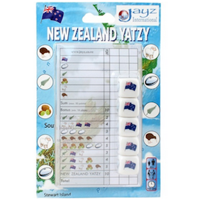 "Yatzy - New Zealand, Dice Game, Age_10+, Age_4+, Age_5+, Age_6+, Age_7+, Age_8+, Age_9+, Age_Adult, Age_Teen, Category_Educational, Category_Family, Mechanic_Dice Rolling, Mechanic_Set Collection, New Zealand, Yahtzee, ""board games"", ""Hobby Games"""