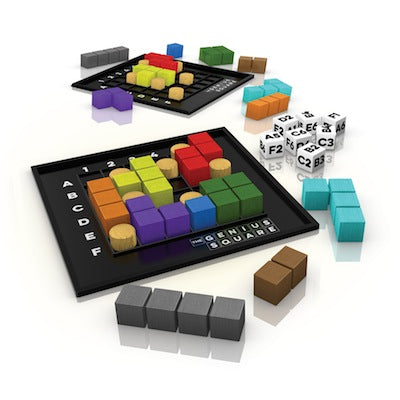"The Genius Square, Board Game, Age_5-7 years, Category_Abstract, Category_Solo, Mechanic_Dexterity, Mechanic_Logic Puzzle, Mechanic_Modular Board, Mechanic_Tile Placement, The happy Puzzle Company, ""board games"", ""Hobby Games"", Hobby Games"