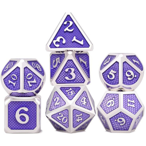Metal Purple Scales - Polyhedral Dice Set
