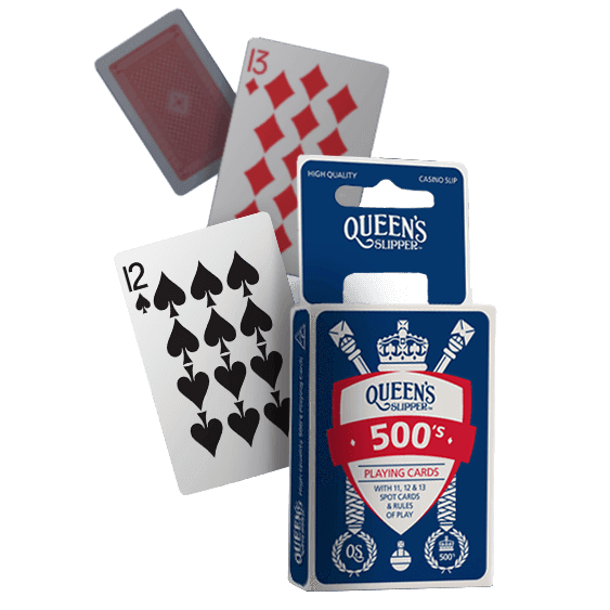 "Queen's Slipper Playing Cards - 500, Card Game, Age_10+, Age_3+, Age_4+, Age_5+, Age_6+, Age_7+, Age_8+, Age_9+, Age_Adult, Age_Teen, ""board games"", ""Hobby Games"""
