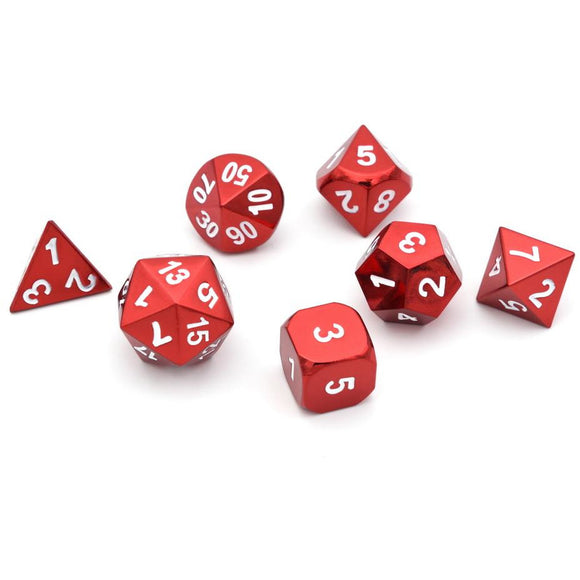 Metal Red - Polyhedral Dice Set