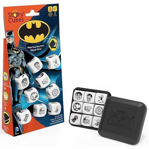 "Rory's Story Cubes - Batman, Dice Game, Age_10+, Age_6+, Age_7+, Age_8+, Age_9+, Age_Adult, Age_Teen, Batman, Category_Educational, Category_Family, Category_Party, Category_Stand Alone Expansion, Gamewright, Mechanic_Cooperative, Mechanic_Dice Rolling, Mechanic_Pattern Recognition, Mechanic_Story Telling, Rory O'Connor, Rory's Story Cubes, ""board games"", ""Hobby Games"""