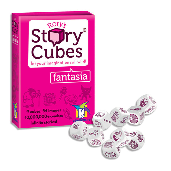 "Rory's Story Cubes - Fantasia, Dice Game, Age_10+, Age_6+, Age_7+, Age_8+, Age_9+, Age_Adult, Age_Teen, Category_Educational, Category_Family, Category_Party, Category_Stand Alone Expansion, Gamewright, Mechanic_Cooperative, Mechanic_Dice Rolling, Mechanic_Pattern Recognition, Mechanic_Story Telling, Rory O'Connor, Rory's Story Cubes, ""board games"", ""Hobby Games"""