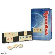 "Rummikub - Travel in Tin, Board Game, Age_10+, Age_8+, Age_9+, Age_Adult, Age_Teen, Category_Abstract, Category_Family, Ephraim Hertzano, Mechanic_Set Collection, Rummikub, ""board games"", ""Hobby Games"""