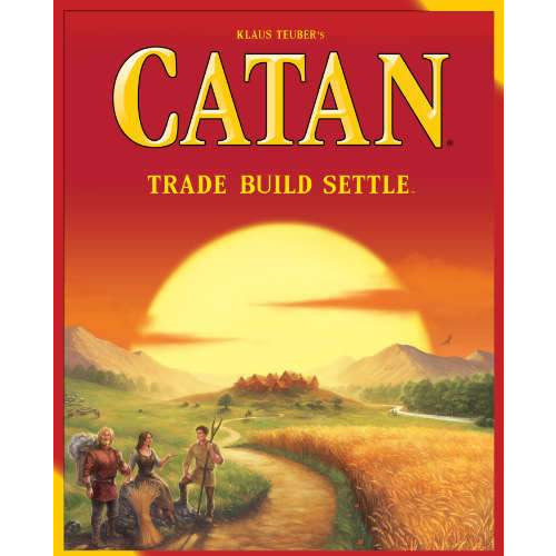 "Catan- 5th Edition, Board Game, Age_10+, Age_Adult, Age_Teen, Catan, Category_Family, Klaus Teubler, Mechanic_Dice Rolling, Mechanic_Hand Management, Mechanic_Modular Board, Mechanic_Route Building, Mechanic_Trading, ""board games"", ""Hobby Games"""